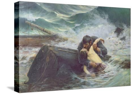 Adieu, 1892-Alfred Guillou-Stretched Canvas Print