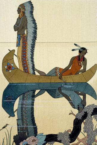 On the Missouri, 1922-Georges Barbier-Stretched Canvas Print