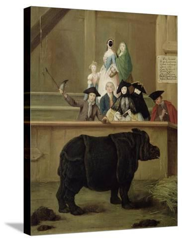 The Rhinoceros, 1751-Pietro Longhi-Stretched Canvas Print