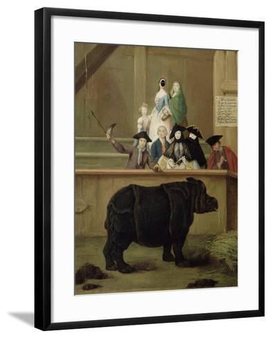 The Rhinoceros, 1751-Pietro Longhi-Framed Art Print