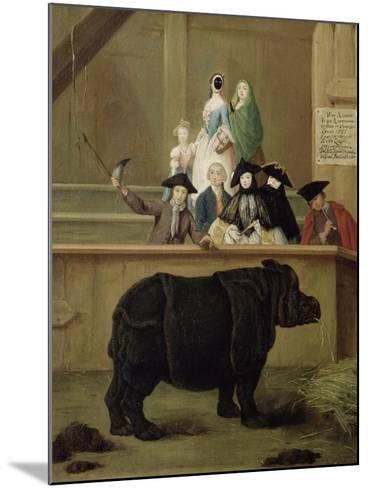 The Rhinoceros, 1751-Pietro Longhi-Mounted Giclee Print