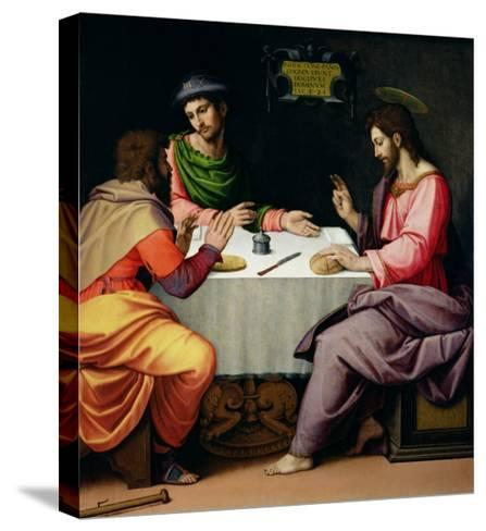 The Supper at Emmaus, c.1520-Ridolfo Ghirlandaio-Stretched Canvas Print