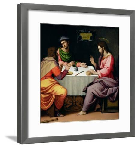 The Supper at Emmaus, c.1520-Ridolfo Ghirlandaio-Framed Art Print