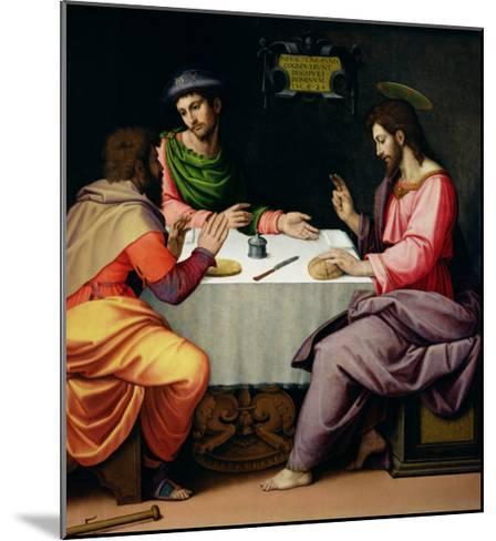 The Supper at Emmaus, c.1520-Ridolfo Ghirlandaio-Mounted Giclee Print
