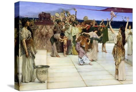Dedication to Bacchus, 1889-Sir Lawrence Alma-Tadema-Stretched Canvas Print