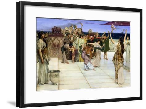 Dedication to Bacchus, 1889-Sir Lawrence Alma-Tadema-Framed Art Print