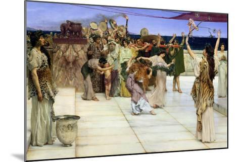 Dedication to Bacchus, 1889-Sir Lawrence Alma-Tadema-Mounted Giclee Print