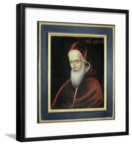 Portrait of Pope Pius V--Framed Art Print