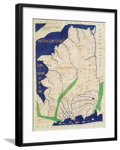 Map of France, from Geographia-Ptolemy-Framed Art Print