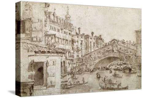 The Rialto Bridge, Venice-Francesco Guardi-Stretched Canvas Print