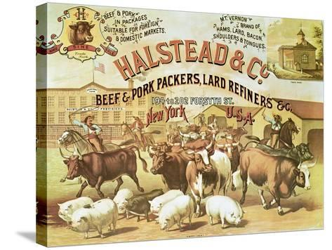 Beef and Pork Packers, c.1880--Stretched Canvas Print