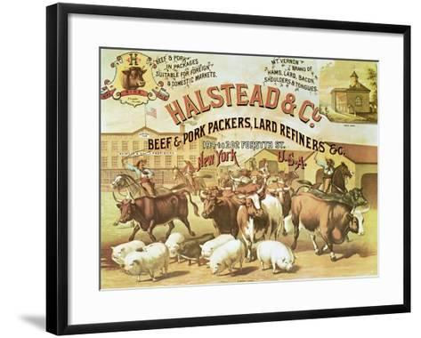 Beef and Pork Packers, c.1880--Framed Art Print
