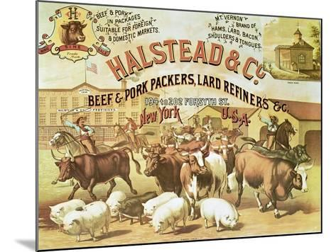 Beef and Pork Packers, c.1880--Mounted Giclee Print