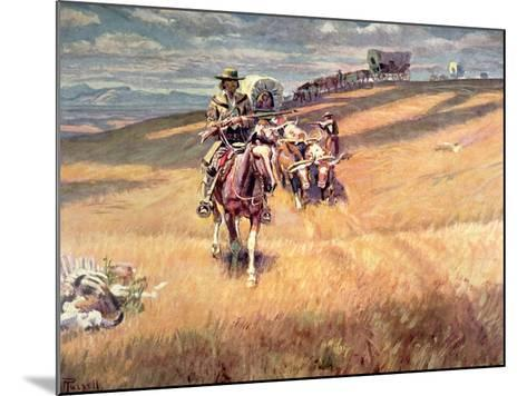When Wagon Trails Were Dim-Charles Marion Russell-Mounted Giclee Print