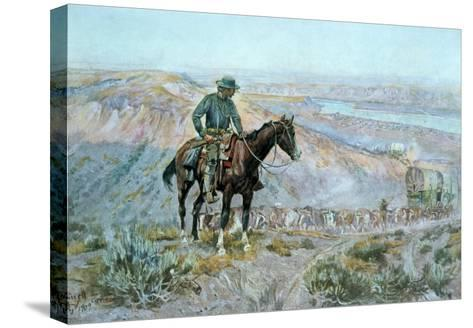 The Wagon Boss-Charles Marion Russell-Stretched Canvas Print