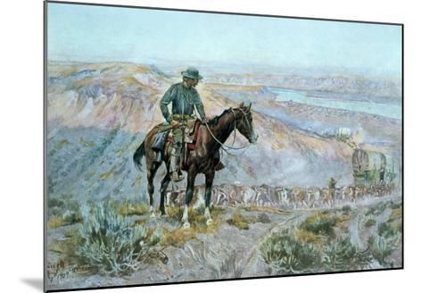 The Wagon Boss-Charles Marion Russell-Mounted Giclee Print