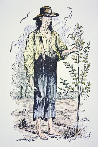 Johnny Appleseed--Stretched Canvas Print