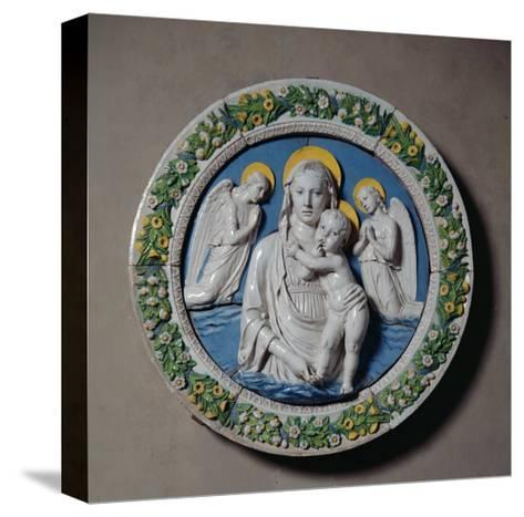 Virgin and Child-Luca Della Robbia-Stretched Canvas Print