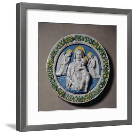 Virgin and Child-Luca Della Robbia-Framed Art Print
