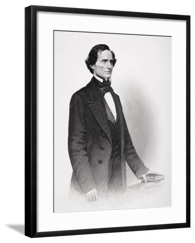 Portrait of Jefferson Davis-Mathew Brady-Framed Art Print