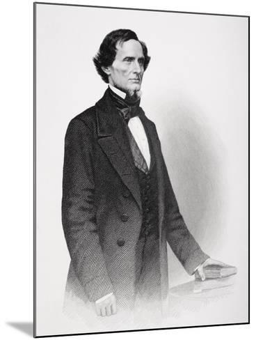 Portrait of Jefferson Davis-Mathew Brady-Mounted Giclee Print