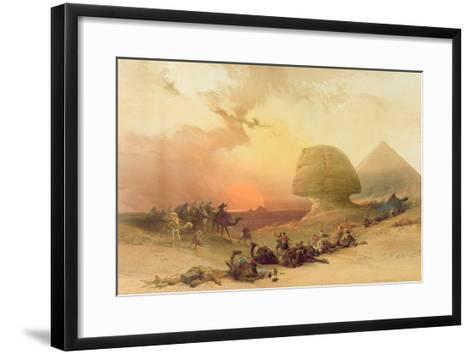 The Sphinx at Giza-David Roberts-Framed Art Print