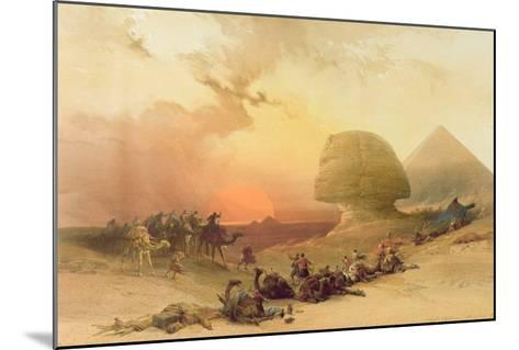 The Sphinx at Giza-David Roberts-Mounted Giclee Print