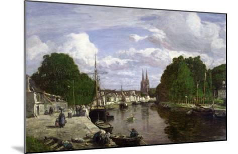 The Port at Quimper, 1857-Eug?ne Boudin-Mounted Giclee Print