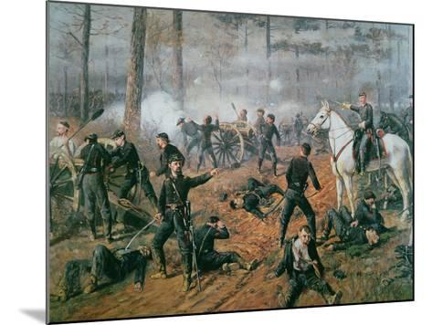 Captain Hickenlooper's Battery in the Hornet's Nest at the Battle of Shiloh, April 1862-T. C. Lindsay-Mounted Giclee Print