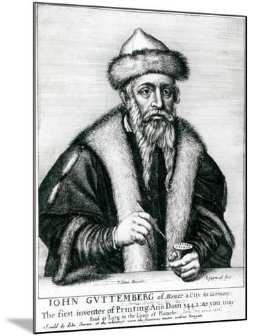 Portrait of Johannes Gutenberg--Mounted Giclee Print