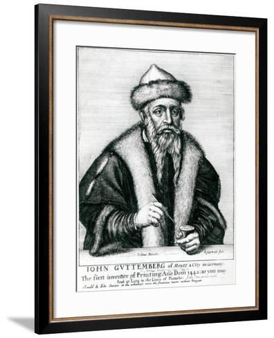 Portrait of Johannes Gutenberg--Framed Art Print