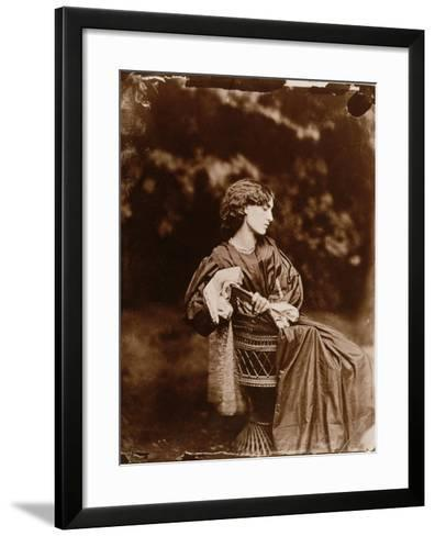 Portrait of Jane Morris-John R. Parsons-Framed Art Print