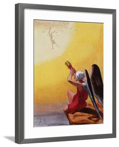 The Fall of Icarus-Honore Daumier-Framed Art Print