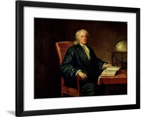 Portrait of Isaac Newton-Enoch Seeman-Framed Art Print