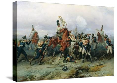 The Exploit of the Mounted Regiment in the Battle of Austerlitz, 1884-Bogdan Willewalde-Stretched Canvas Print