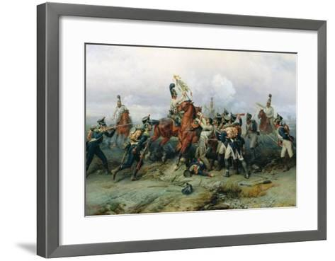 The Exploit of the Mounted Regiment in the Battle of Austerlitz, 1884-Bogdan Willewalde-Framed Art Print