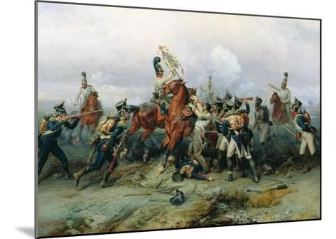 The Exploit of the Mounted Regiment in the Battle of Austerlitz, 1884-Bogdan Willewalde-Mounted Giclee Print