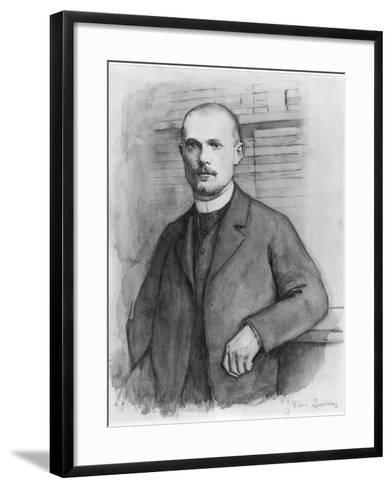 Portrait of Charles Peguy-Jean-Pierre Laurens-Framed Art Print