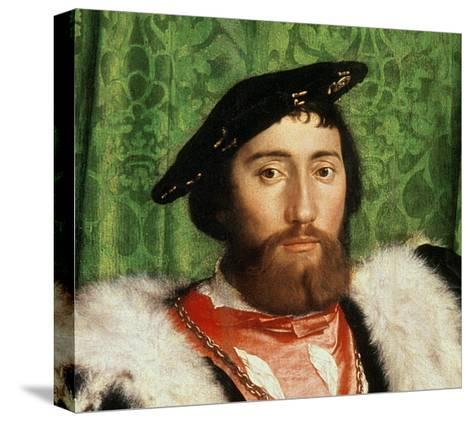 The Ambassadors, 1533-Hans Holbein the Younger-Stretched Canvas Print