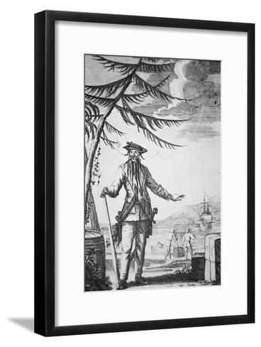 Blackbeard the Pirate--Framed Art Print