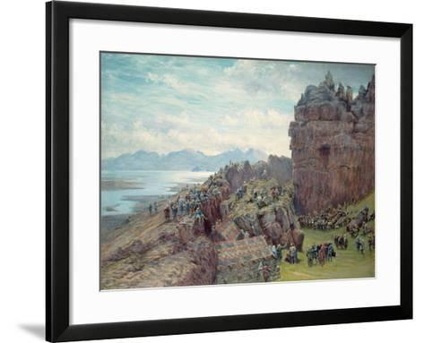 Alping in Session-William Gersham Collingwood-Framed Art Print