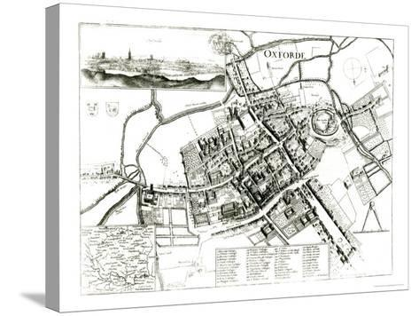 Map of Oxford, 1643-Wenceslaus Hollar-Stretched Canvas Print