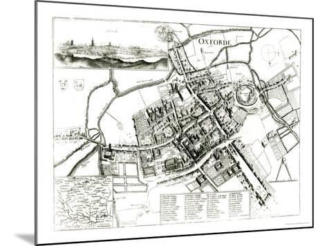Map of Oxford, 1643-Wenceslaus Hollar-Mounted Giclee Print