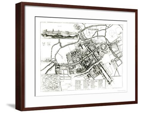 Map of Oxford, 1643-Wenceslaus Hollar-Framed Art Print