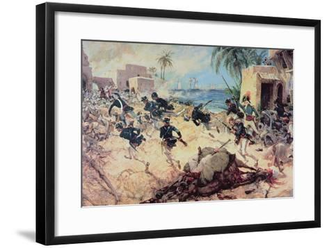 U.S. Marines Capture the Barbary Pirate Fortress at Derna, Tripoli, 27th April 1805-C^h^ Waterhouse-Framed Art Print