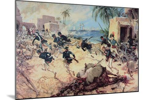 U.S. Marines Capture the Barbary Pirate Fortress at Derna, Tripoli, 27th April 1805-C^h^ Waterhouse-Mounted Giclee Print