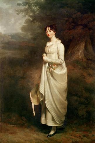 Portrait of Maria. B. Fox-Sir William Beechey-Stretched Canvas Print