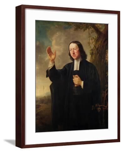 Portrait of John Wesley, c.1766-Nathaniel Hone-Framed Art Print
