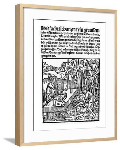 Etching of Vlad Dracul--Framed Art Print