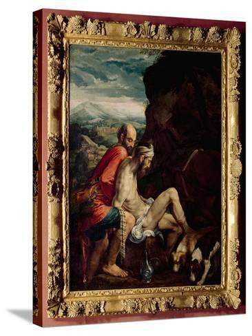 The Good Samaritan, c.1550-70-Jacopo Bassano-Stretched Canvas Print